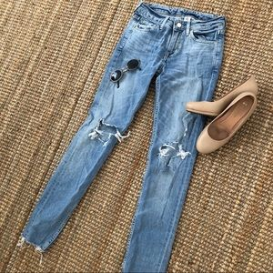 Skinny distressed jeans!